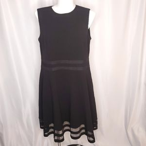 Calvin Klein Fit and Flare Sleeveless Black Dress